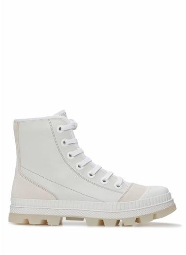 Jimmy Choo Jimmy Choo 101549334 Kadın Deri Sneaker Beyaz